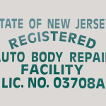 State of NJ Registered Auto Body Repari Facility