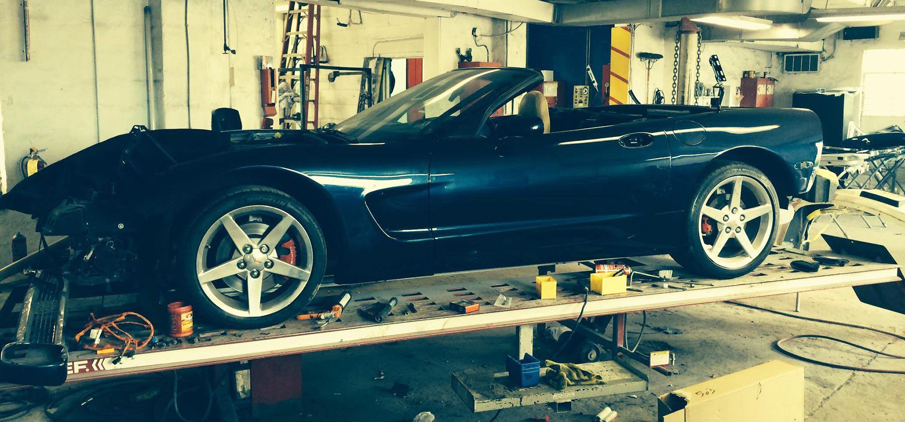 Corvette body work