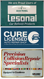 Lesonal Car Refinishing Products, CURE Licensed, Precision Collision Repair Specialists